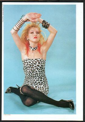 1987 Cyndi Lauper JAPAN mag photo pinup / mini poster / vintage clipping c02r
