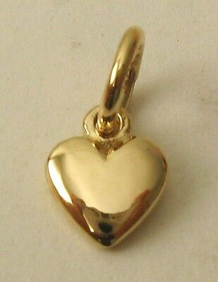 GENUINE 9K 9ct  SOLID GOLD SMALL 3D LOVE HEART VALENTINE CHARM/PENDANT