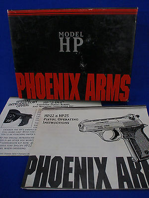 Phoenix Arms Model HP-22 Factory Issued 2-Piece Box & Instruction Sheet