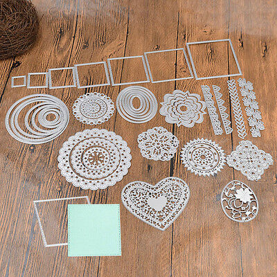 Metal Cutting Dies Stencil Flower Heart DIY Scrapbook Handcraft Paper Card Album