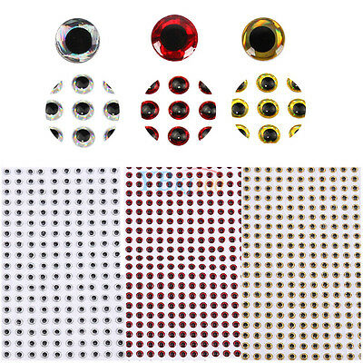 3D 500Pcs Holographic Fishing Fish Lure Baits Eyes Crafts Dolls 3mm/4mm/5mm New