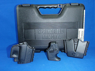 Springfield Armory XD-9 Factory Box Case XD Gear Holster, DBL Mag Holder &Loader