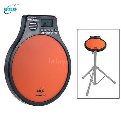 Practice Drum Pad with Metronome / Counting / Speed Detection Mode Orange C8S9