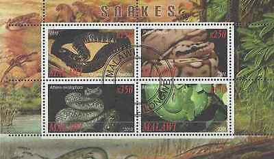 Timbres Reptiles Serpents Malawi o année 2010 lot 17446