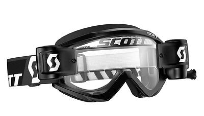 !ANGEBOT! SCOTT Recoil Xi WFS Roll-Off MX Motocross Cross Mud Helm-Brille black