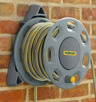 NEW HOZELOCK Garden hose reel Wall Mounted compact 15m flexible water pipe 50ft