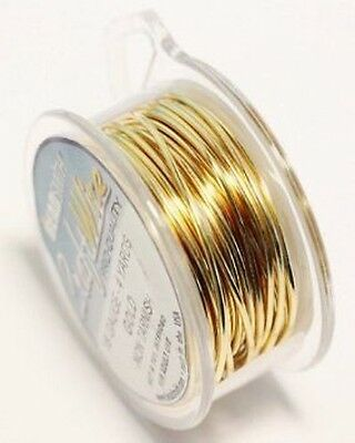 Craft Wire 22gauge (0.64mm) Gold Plated Beadsmith Pro Quality Non Tarnish