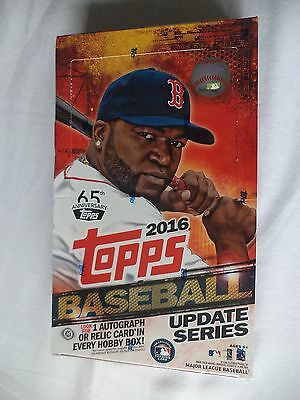 Topps Baseball 2016 Update Edition Factory Sealed Trading Card Hobby Box 36 Pack