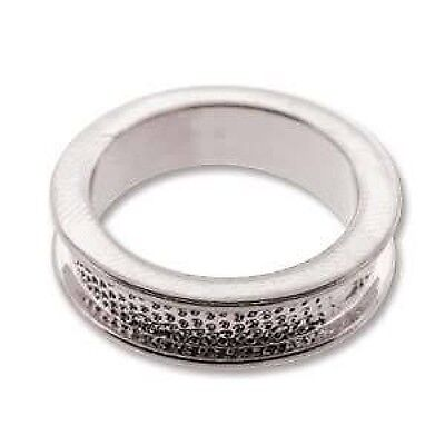 Beadmisth channel Ring setting for crystal clay, polymer, fimo