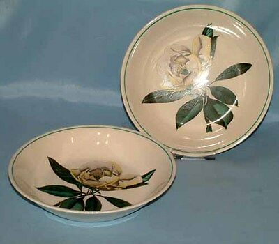 2 x VINTAGE GRAY'S POTTERY HAND-PAINTED CEREAL OR DESSERT BOWLS  - 1st QUALITY