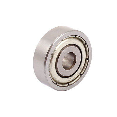 Metal Deep Groove Sealed Shielded Ball Bearing Siver Tone 4mmx16mmx5mm