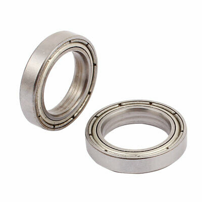 Metal Shielded Sealed Low Speed Deep Groove Ball Bearing 17x 26x5mm 2pcs Silver