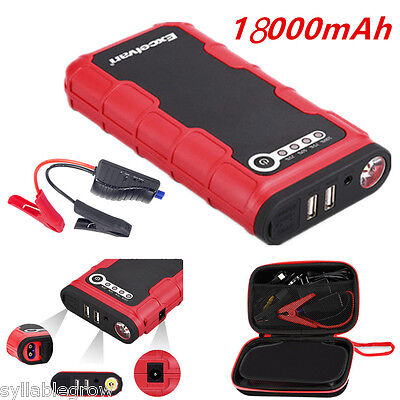 20000mAh 12V Camion Auto Jump Starter Booster Caricabatterie Power Bank LED SOS