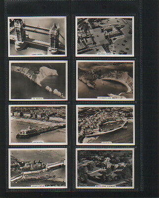 cigarette cards britain from the air 1939 full set