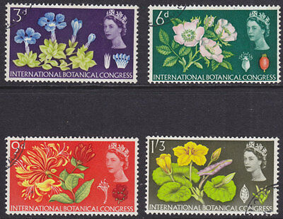 1964 Botanical Congress Phosphor Set Of 4 Sg655P/658P Fine Used