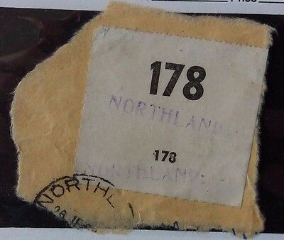 New Zealand 1969 Piece From Parcel With 178 Northland Label Registration ?
