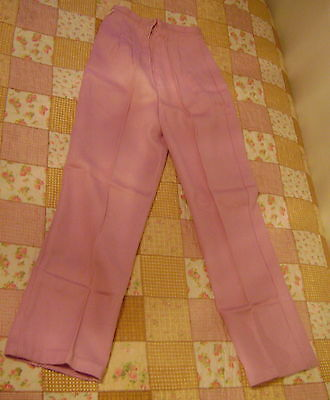 New 60s STEVENS Womens PASTEL LAVENDER Zip Back Pants Size 10+ WOOLWORTH`S+
