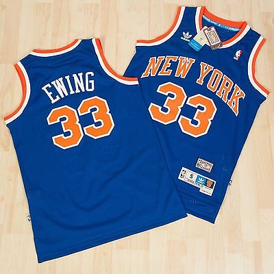 NBA Swingman Patrick Ewing #33 New York Knicks  Basketball Jersey Blue  S M L