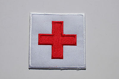 Traditional Red Cross Iron/Sew On Patch -  No547