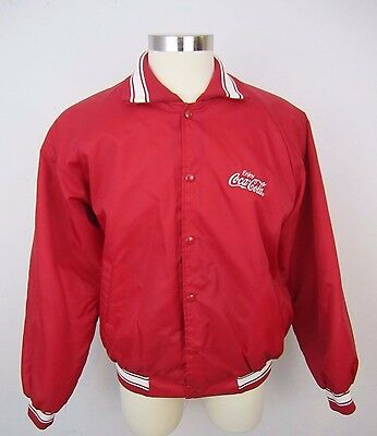 Vintage Hartwell Red Coca Cola Lined Coat Size XL Made in USA Thick Jacket
