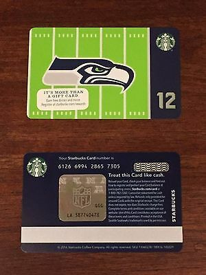 Starbucks Card 2016 SEATTLE SEAHAWKS Ltd Edn w/ NFL Hologram - NEW Unused MINT