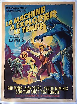 Affiche LA MACHINE A EXPLORER LE TEMPS Time Machine GEORGE PAL 120x160 Entoilée