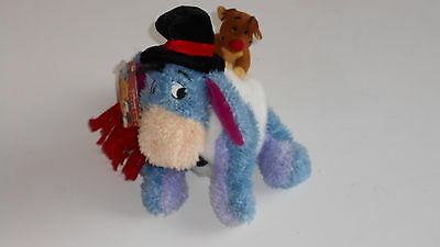 Disney Winnie the Pooh EEYORE SNOWMAN Reindeer back SOFT PLUSH TOY with tag