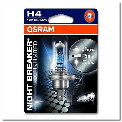 Lampe H4 12V60/55W 1er Blister Night Breaker Unlimited BULB H4 12V60/55W 1 PIECE