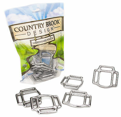 10 - Country Brook Design® 1 Inch Stainless Steel 3-Sided Horse Halter Squares