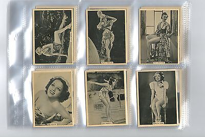 cigarette cards grace & beauty risque film stars 1939 full set