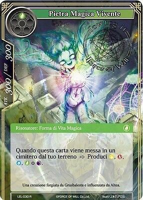 Pietra Magica Vivente - Magic Stone Life Form FoW Force of Will LEL-030 R It/En