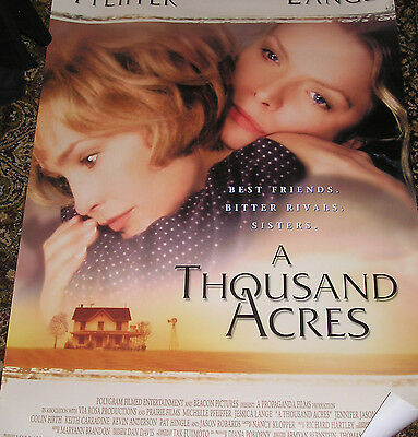 Jessica Lange, A Thousand Acres, Orig Us 90's One Sheet Film  Poster