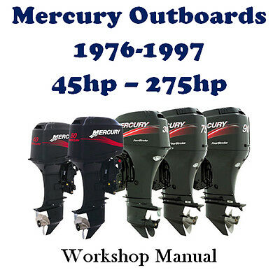 MERCURY OUTBOARD 1976 - 1997 45hp - 275hp WORKSHOP SERVICE REPAIR MANUAL ON CD