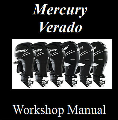 Mercury Verado Outboard 200 225 250 275 Hp Workshop Service Repair Manual On Cd