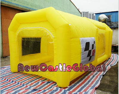 custom made certified portable giant Oxford cloth inflatable spray booth paint