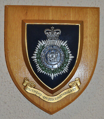 Southend on Sea Constabulary mess plaque crest shield canteen Police