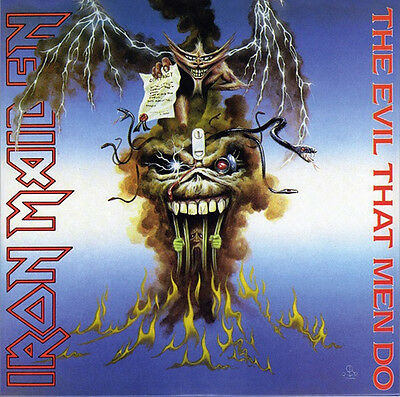 "Iron Maiden The Evil That Men Do 7"" Single Vinyl New 2014 Reissue 45Rpm"