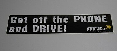 """""""Get off the phone and Drive"""" Stickers"""