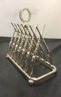 A Hunting Themed Silver Plate Toast Rack. Offers?