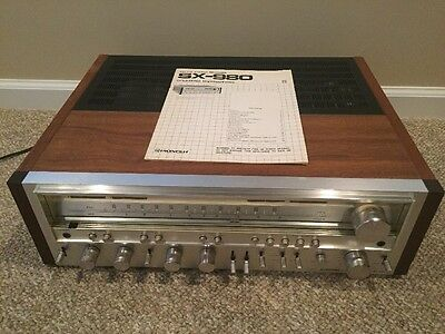 Pioneer SX-980 AM/FM Stereo Receiver With Manual