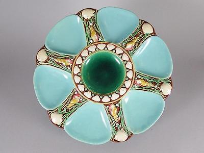 """Antique 19Th C. Minton Majolica 9 1/4"""" Oyster Plate"""
