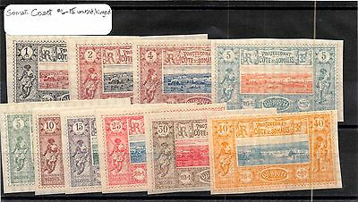 Somali Coast-French Overseas Territory Scott #6-15 MH Mint Hinged Stamps #80940
