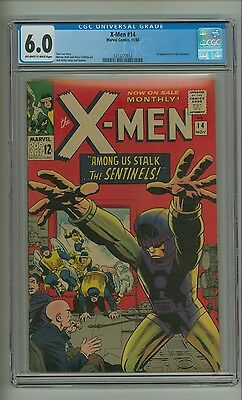 X-Men 14 (CGC 6.0) OW/W pages; 1st app. Sentinels; Kirby; Marvel; 1965 (c#12558)