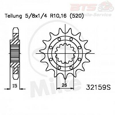 Racing-Ritzel 14Z Teilung 520  26/30 BMW HP4-Competition ABS,ABS,K42