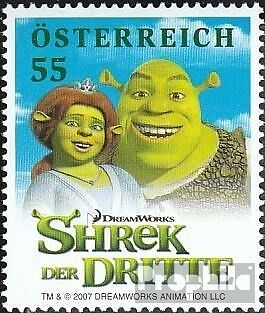 Austria 2673 (complete issue) unmounted mint / never hinged 2007 Shrek