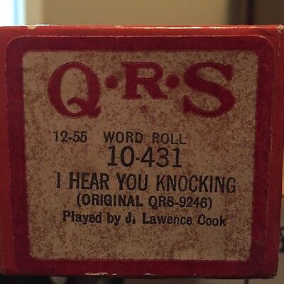I Hear You Kocking QRS Piano Roll 10-431 J Lawrence Cook Dave Edmunds