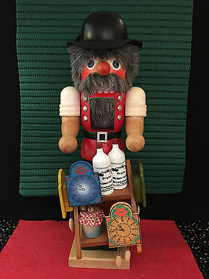 Classic Christian Ulbricht Clockmaker Nutcracker #2884, Signed, FREE SHIPPING!!!