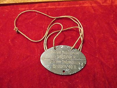 German Dog Tag With Cord