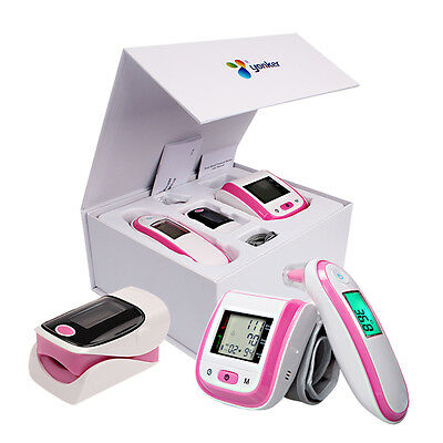 Digital Infrared Thermometer Blood Pressure Monitor Pulse Oximeter with Gift Box