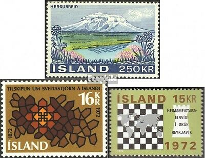 Iceland 460,463,464 (complete issue) unmounted mint / never hinged 1972 special